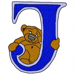Bear Alphabet J embroidery design