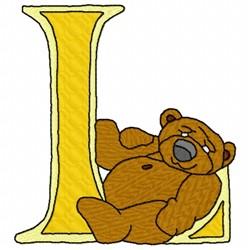 Bear Alphabet L embroidery design