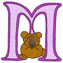 Bear Alphabet M embroidery design