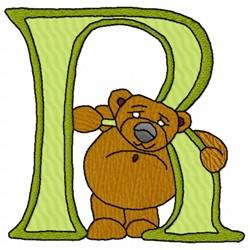 Bear Alphabet R embroidery design