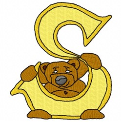 Bear Alphabet S embroidery design