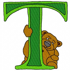 Bear Alphabet T embroidery design