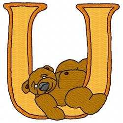 Bear Alphabet U embroidery design