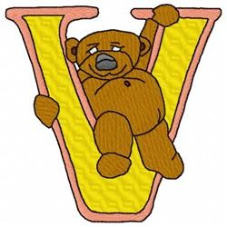 Bear Alphabet V embroidery design