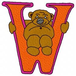 Bear Alphabet W embroidery design