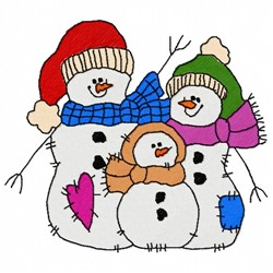 Family Snowman embroidery design