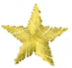 Crayon Star embroidery design