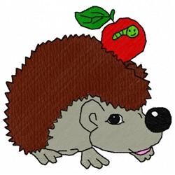Hedgehog Apple embroidery design