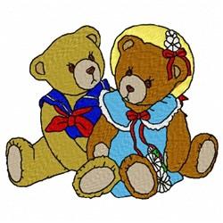 Bear Couple embroidery design