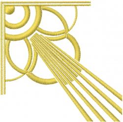 Corner Rays embroidery design