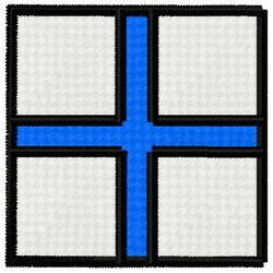 Xray Flag embroidery design