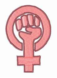 Feminist Symbol embroidery design
