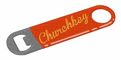 Church Key embroidery design