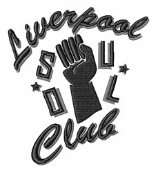 Liverpool Soul Club embroidery design