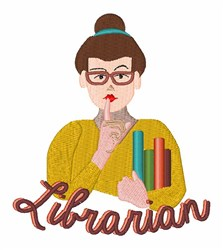 Librarian embroidery design