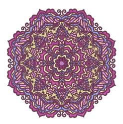 Purple Mandala embroidery design
