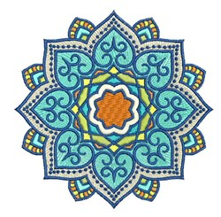 Mandala Floral embroidery design