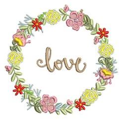 Love Wreath embroidery design