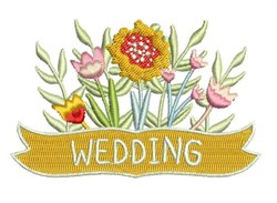 Wedding Floral embroidery design