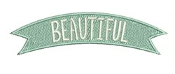 Beautiful Banner embroidery design
