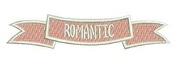 Romantic Banner embroidery design