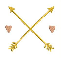 Hearts & Arrows embroidery design