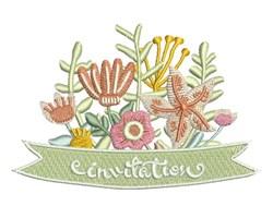 Invitation Flowers embroidery design