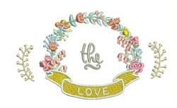 The Love embroidery design