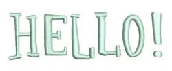 Hello! embroidery design