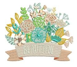 Beautiful Bouquet embroidery design