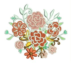 Floral Bouquet embroidery design