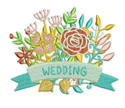 Wedding Flowers embroidery design