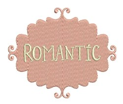 Romantic embroidery design