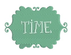 Time embroidery design