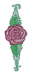 Rose Decoration embroidery design
