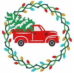 Christmas Wreath Scene embroidery design