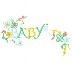 Baby Flower embroidery design