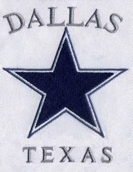 Texas Dallas Cowboys embroidery design