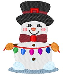 Decorating Snowman embroidery design