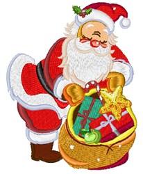 Santa Delivering Gifts embroidery design