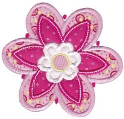 Purple Applique Flower embroidery design