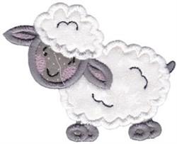 Country Animals Stix Lamb Applique embroidery design