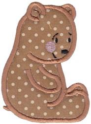Applique Bear embroidery design