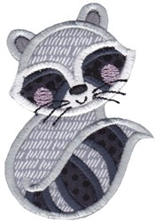 Applique Raccoon embroidery design