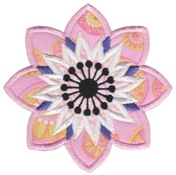 Applique Flower embroidery design