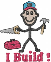 Builder Joe embroidery design