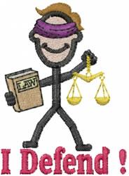 Lawyer Joe embroidery design