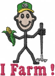 Farmer Joe embroidery design