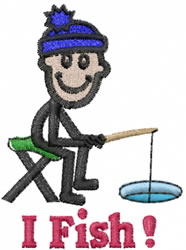 Fisherman Joe embroidery design