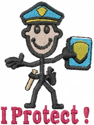 Officer Joe embroidery design